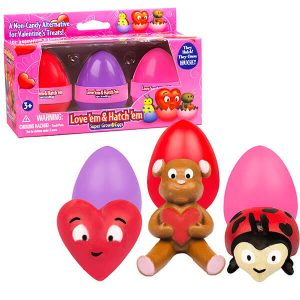 Love 'Em and Hatch 'Em Valentine's Grow Eggs from Super Grow Eggs: The Non-Candy Valentines Day Alternative!